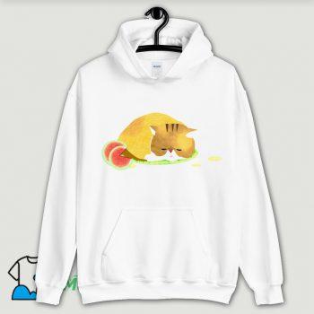 Summer Heat Watermelon Cat Hoodie Streetwear