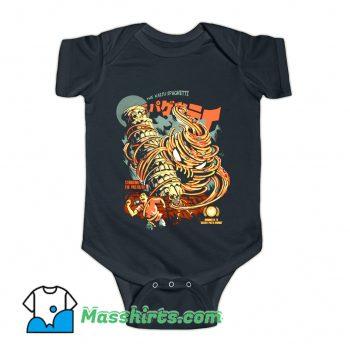 The Kaiju Spaghetti Black Baby Onesie
