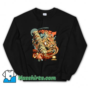 Cheap The Kaiju Spaghetti Black Sweatshirt