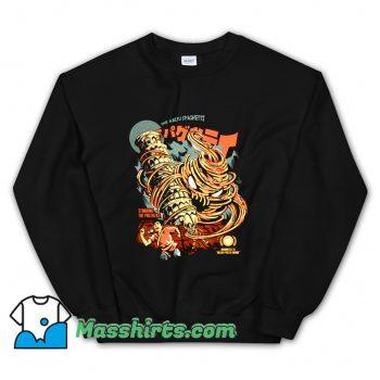 Cheap The Kaiju Spaghetti Black Sweatshirt