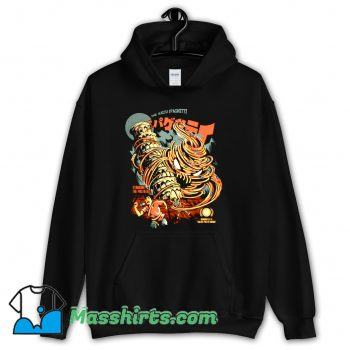 The Kaiju Spaghetti Black Hoodie Streetwear