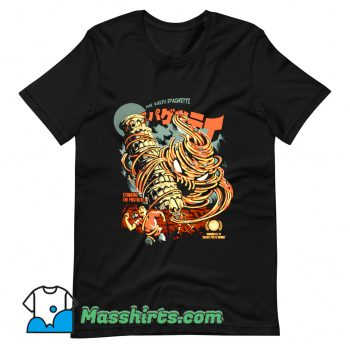 Classic The Kaiju Spaghetti Black T Shirt Design