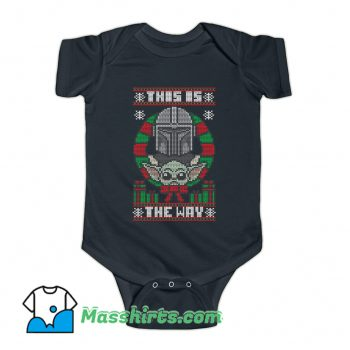 This Is The Way Sweater Ugly Christmas Baby Onesie