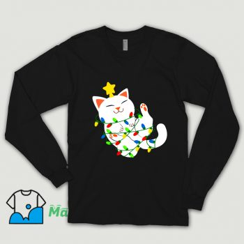 Cheap White Christmas Kitty Shirt
