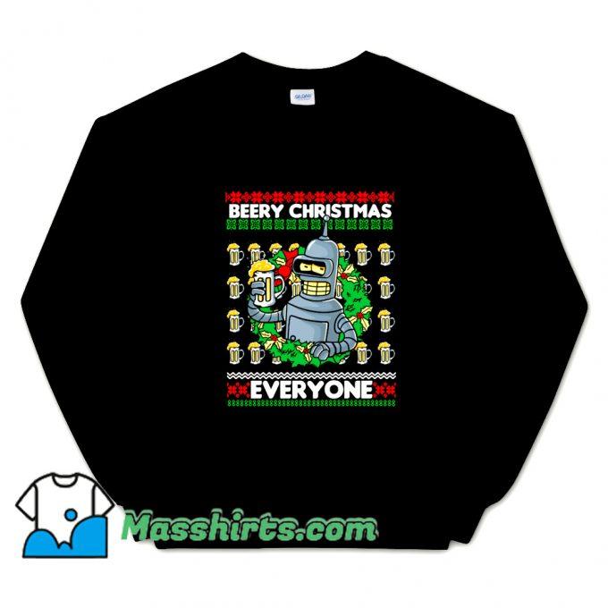Cheap Beery Christmas Sweatshirt
