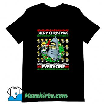 Cute Beery Christmas T Shirt Design
