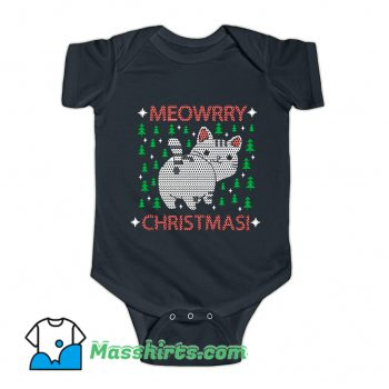 Funny Meowrry Christmas Baby Onesie