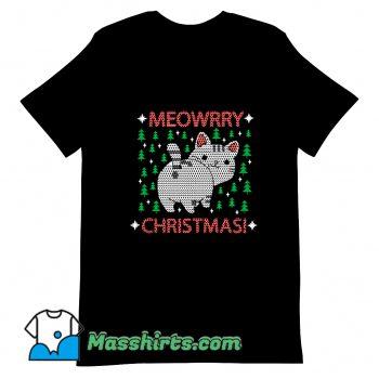 Meowrry Christmas T Shirt Design On Sale