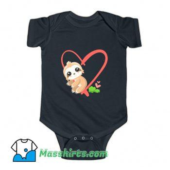 Baby Sloth Valentines Day Gift Sloth Baby Onesie