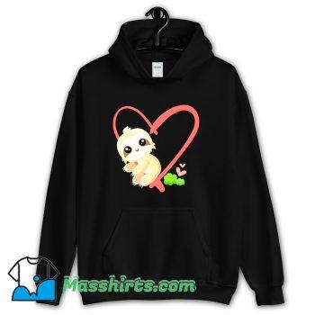Baby Sloth Valentines Day Gift Sloth Hoodie Streetwear
