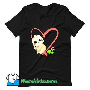 Baby Sloth Valentines Day Gift Sloth T Shirt Design
