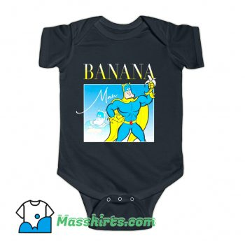 Bananaman 80s Retro Cartoon Baby Onesie
