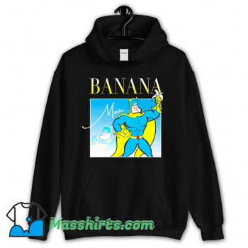 Bananaman 80s Retro Cartoon Hoodie Streetwear
