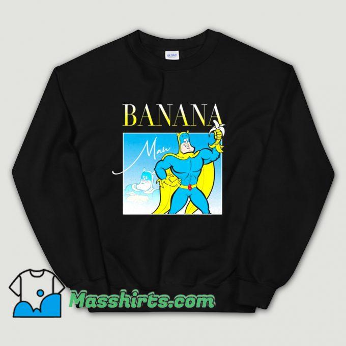 Bananaman 80s Retro Cartoon Sweatshirt