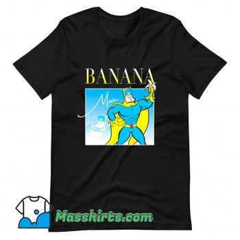 Bananaman 80s Retro Cartoon T Shirt Design
