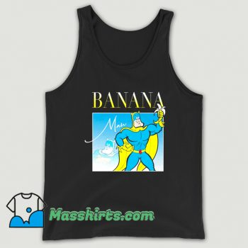 Cool Bananaman 80s Retro Cartoon Tank Top