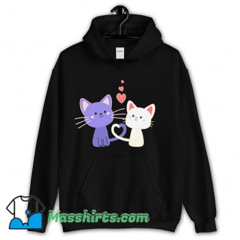 Cat Heart Cat Lover Hoodie Streetwear