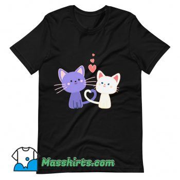Cat Heart Cat Lover Valentine Day T Shirt Design