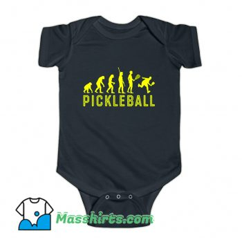 Evolution Of Pickleball Baby Onesie