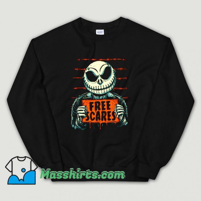 Cheap Horror Free Scares Sweatshirt