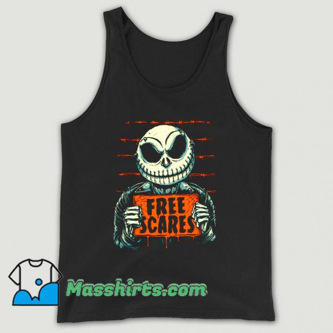 Free Scares Horror Retro Tank Top