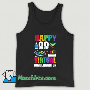Awesome Happy 100 Days Of Virtual Kindergarten Tank Top