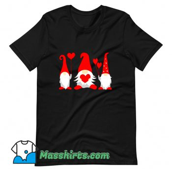Funny Heart Gnome Valentine Day T Shirt Design