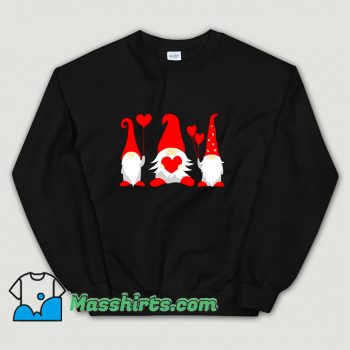 Cheap Heart Gnome Valentine Day Sweatshirt