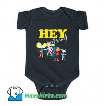 Hey Arnold Retro 90s Cartoon Baby Onesie