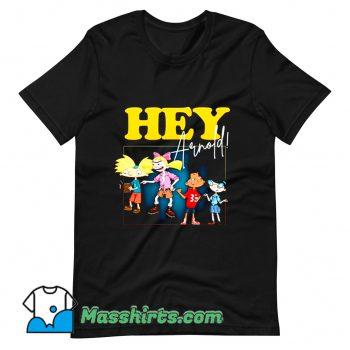 Cute Hey Arnold Retro 90s Cartoon T Shirt Design