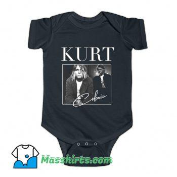 Kurt Cobain Nirvana 90s Music Baby Onesie