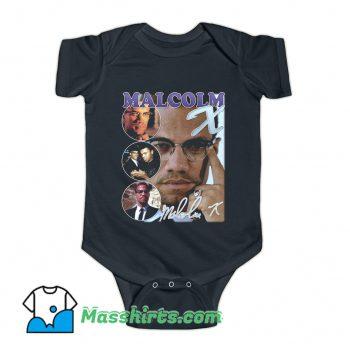 Malcolm X Bootleg Rap Baby Onesie