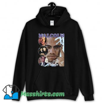 Malcolm X Bootleg Rap Hoodie Streetwear