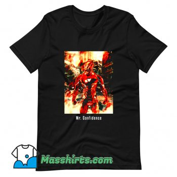 Cartoon Comic Mr. Confidence T Shirt Design