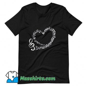 Musical Notes Music Romantic T Shirt Design