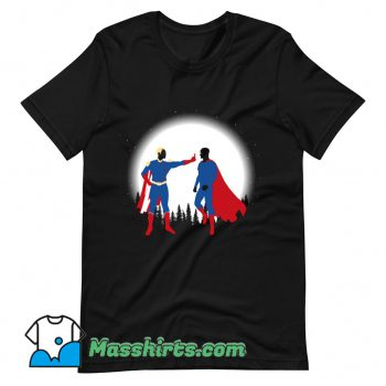 Cheap Patriota Vs SuperHombre T Shirt Design
