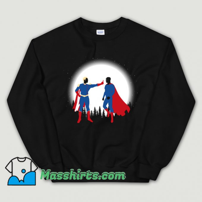 Patriota Vs SuperHombre Sweatshirt On Sale