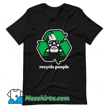 Cute Recycle People T Shirt Design