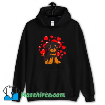 Funny Rottweiler Dog Valentines Day Hoodie Streetwear