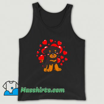 Vintage Rottweiler Dog Valentines Day Tank Top