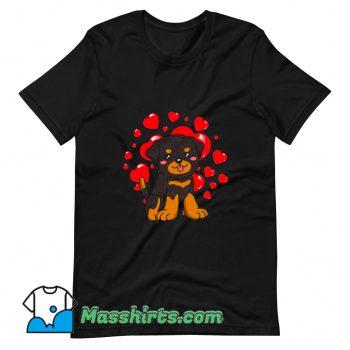 Rottweiler Dog Valentines Day T Shirt Design