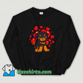 Classic Rottweiler Dog Valentines Day Sweatshirt