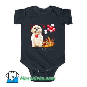 Shih Tzu Valentines Day Baby Onesie