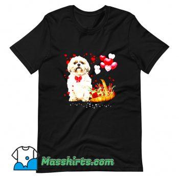 Cheap Shih Tzu Valentines Day T Shirt Design