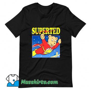 Official SuperTed Retro 80s Cartoon T Shirt Design