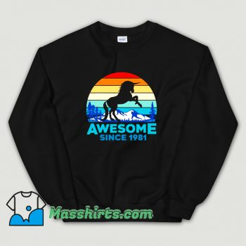 Unicorn Awesome Since 1981 Sweatshirt