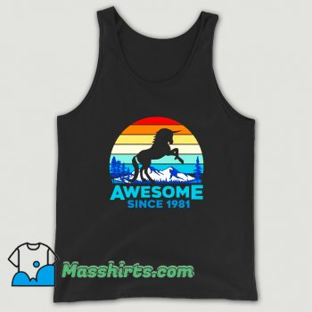 Unicorn Awesome Since 1981 Tank Top