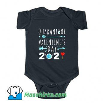 Valentines Day Quarantine 2021 Baby Onesie
