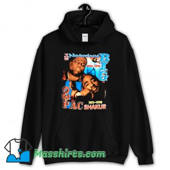 2Pac Shakur and Notorius Big Hoodie Streetwear