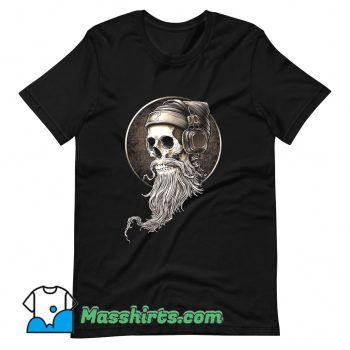 Cheap Hip Hop Skull Beard T Shirt Design